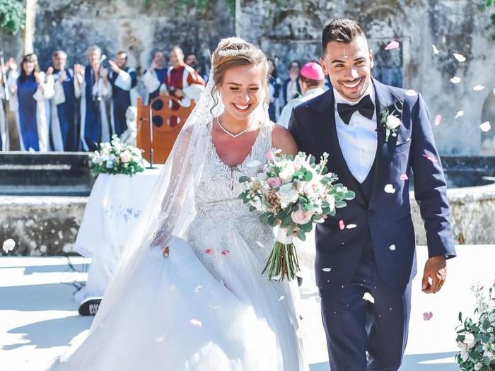 Pebalap tim KTM, Miguel Oliveira, menikahi adik tirinya, Andreia Pimenta, Senin 26 Juli 2021.
