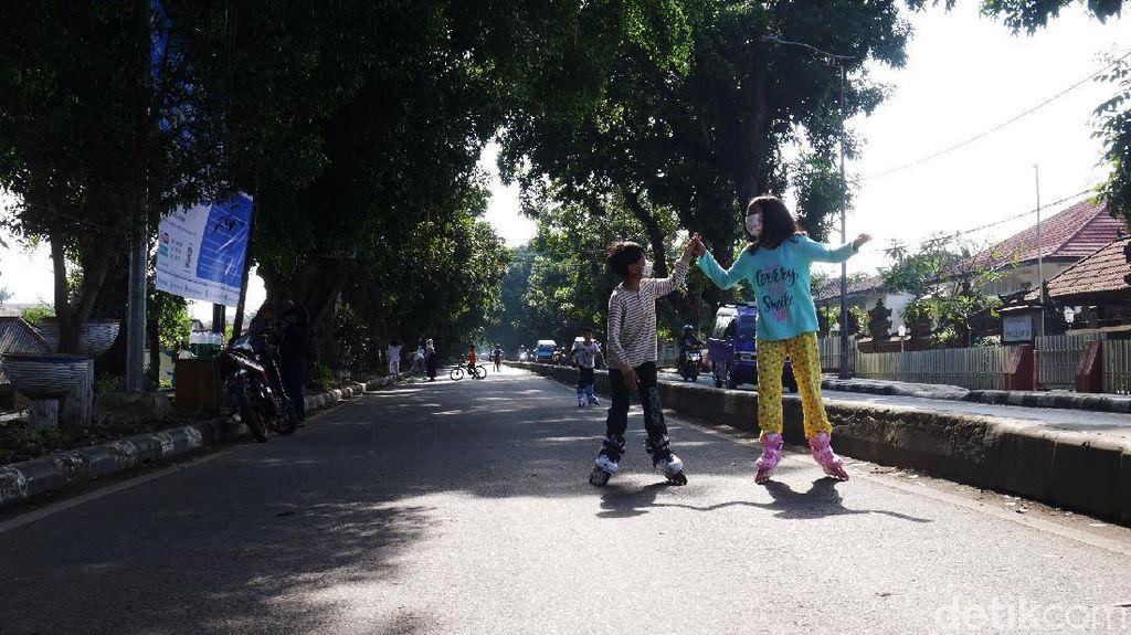 Geliat Warga Cimahi Berolahraga di Jalanan