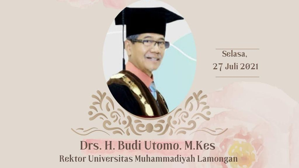 Rektor Universitas Muhammadiyah Lamongan Budi Utomo Meninggal