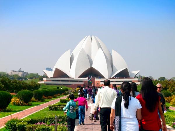 Di India, Bahai sudah punya rumah ibadah namanya Lotus Temple. (Getty Images)