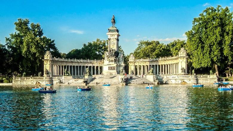 Taman Retiro di Madrid  masuk daftar situs warisan budaya dunia UNESCO pada Minggu (25/7/2021).