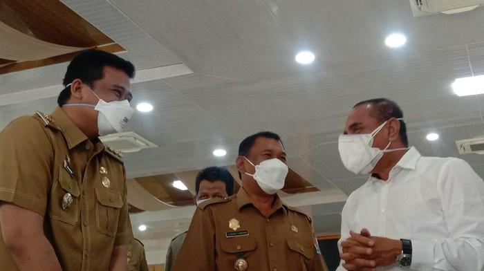 Walkot Medan, Bobby Nasution (kiri) dan Gubsu Edy Rahmayadi (kanan)
