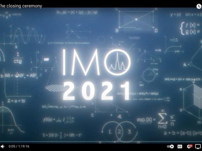 Bangga! Tim Olimpiade Matematika Raih 6 Medali di IMO 2021
