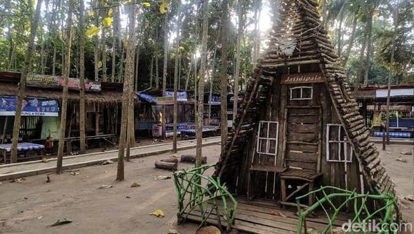 Gambarankesunyian ituditunjukkan objek wisataKebon Jatidipala dan Saung Bali yang berada di Karawang.