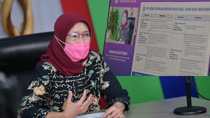 Direktur Jenderal Pengembangan Ekonomi dan Investasi Desa, Daerah Tertinggal, dan Transmigrasi Kemendes PDTT, Harlina Sulistyorini