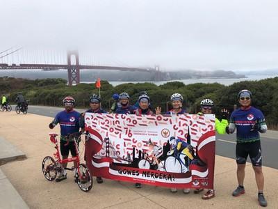 Foto: Ramai-ramai Gowes Sepeda Rayakan HUT RI di San Fransisco