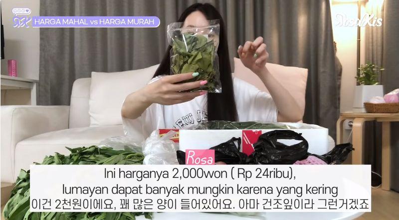 Harga Kangkung hingga Daun Pandan di Korea