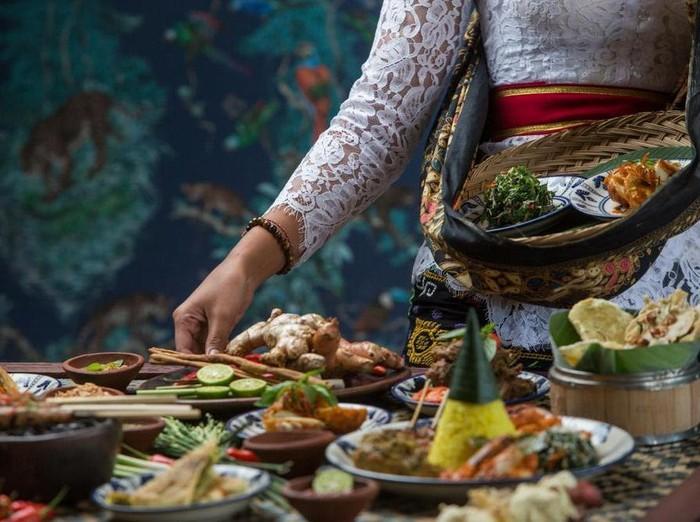 Ilustrasi makanan khas Bali.