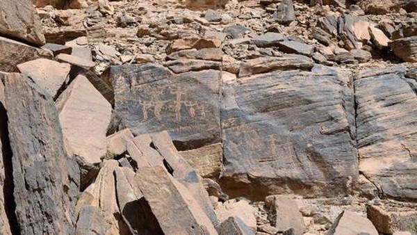 Adapun area budaya Hima Arab Saudi di bagian pegunungan negara tersebut ditambahkan ke dalam daftar koleksi substansial gambar seni cadas yang berisi sejarah lebih dari 7.000 tahun. Dok. Dr Majeed Khan/SCTH via www.whc.unesco.org.
