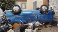 Banjir-Longsor Jungkir Balikkan Kendaraan di Italia