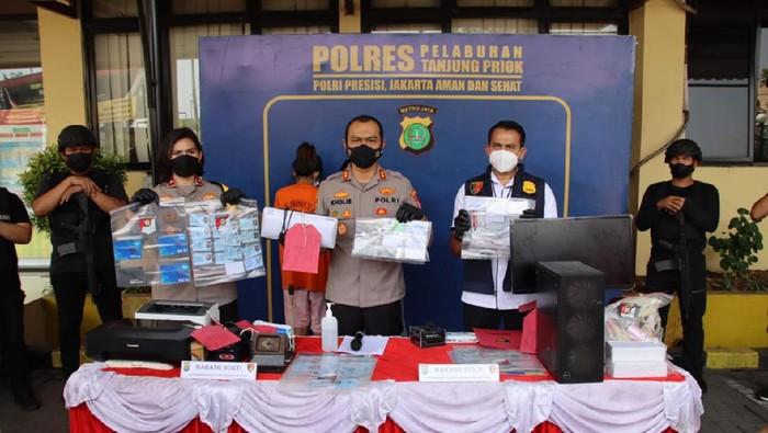 Polres Pelabuhan Tanjung Priok Tangkap pemalsu kartu vaksin di Bogor (Dok.istimewa)