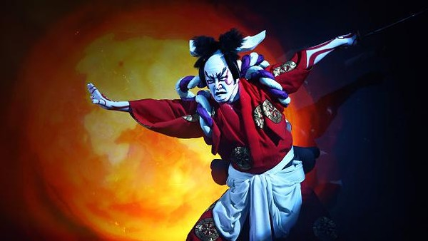 Kabuki kembali mencuri perhatian publik dunia usai tampil dalam pembukaan pesta olahraga terbesar dunia, yakni Olimpiade Tokyo 2020 pada Jumat (23/7) lalu. Getty Images/Carl Court.