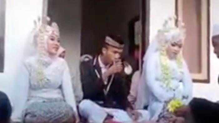 Pria di Lombok nikahi 2 wanita sekaligus. (dok Istimewa)