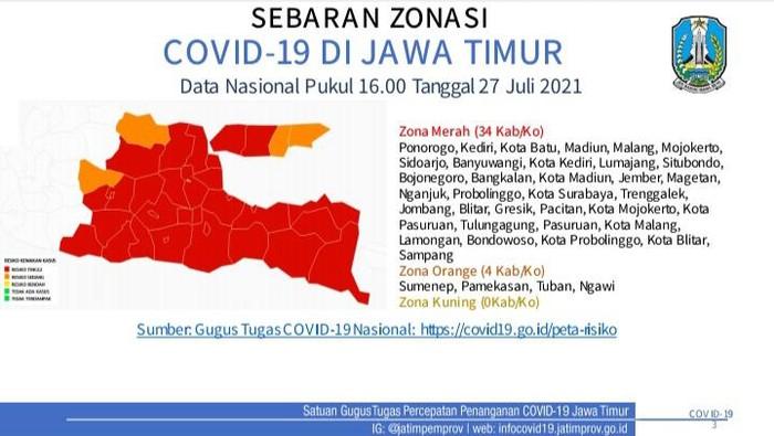 Tambah Lagi, ini Daftar Zona Merah di Jatim