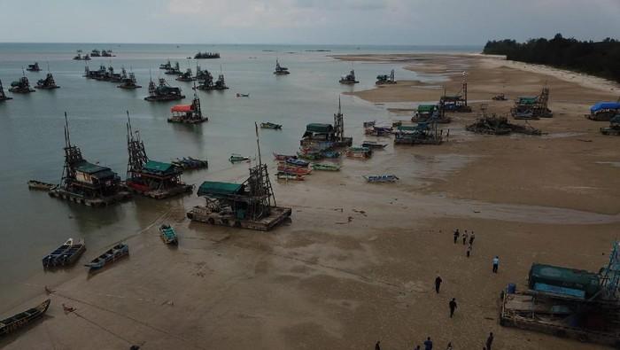 100 ponton ilegal diamankan di laut Bangka Belitung (Dok istimewa)