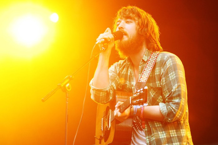 LONDON, ENGLAND - JUNE 27:  **UK TABLOID NEWSPAPERS OUT**  Robin Pecknold of Fleet Foxes performs at the second day of the Hard Rock Calling festival held in Hyde Park on June 27, 2009 in London, England.  (Photo by Fergus McDonald/Getty Images)