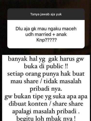 Bunga Zainal jawab pertanyaan netizen