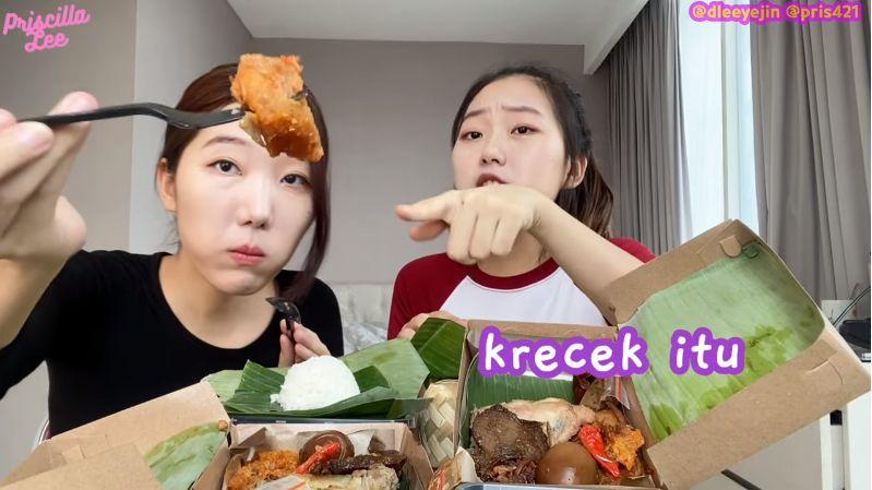 Cewek Korea Cobain Gudeg, Salah Kira Bahannya Terbuat dari Daging Sapi