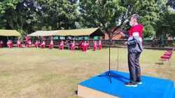 Paskibraka dari 34 Provinsi Mulai Latihan di Lapangan PPPON Cibubur