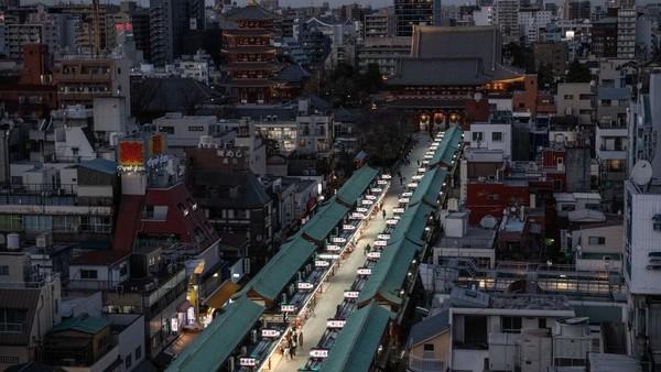 Selain itu area turis yang berada di sekitar venue Olimpiade Tokyo 2020 dan di wilayah-wilayah lainnya juga terdampak larangan masuk turis ke Jepang. Carl Court/Getty Images.