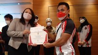 Eko Yuli-Windy Cantika Dihadiahi Tiket PP Jakarta-Tokyo 1 Tahun