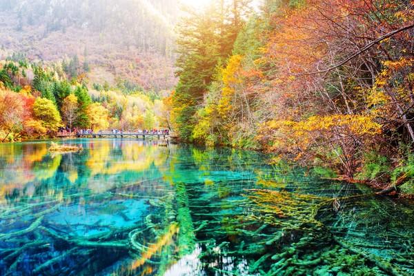 Lihatlah betapa indah nuansa pemandangan yang mengelilingi danau cantik ini.