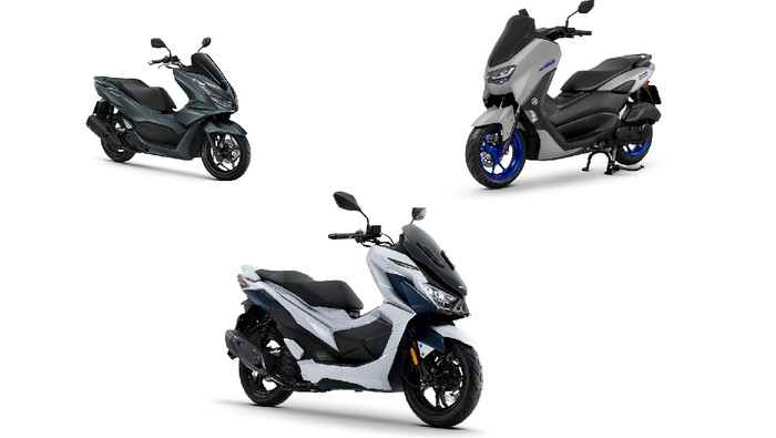 GPX Drone 2022 vs Honda PCX 160 vs Yamaha Nmax 155