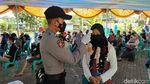 Ribuan Santri dan Warga Divaksin di Ciamis
