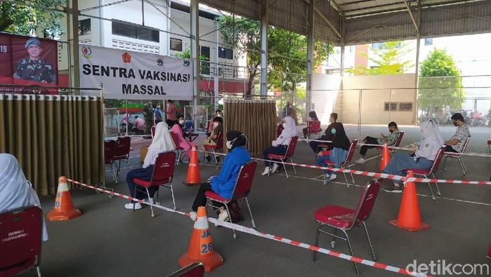 Sentra vaksinasi Paspampres di Mako, Gambir, Jakpus