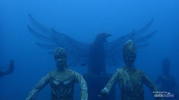 Patung Pemuda dan Garuda dalam program ICRG. Sumber foto Bobby Nababan