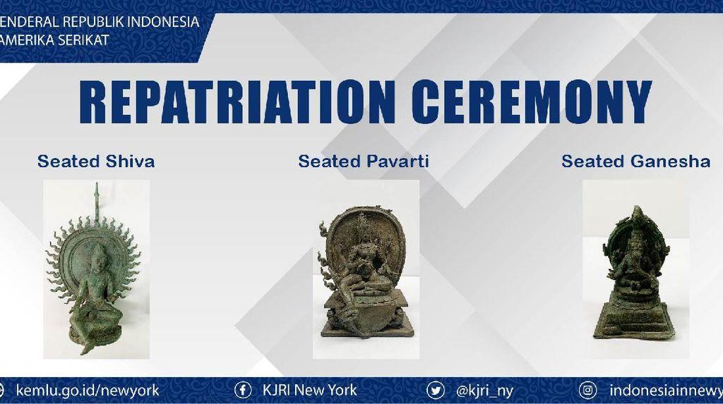 3 Artefak yang Dikembalikan dari AS Segera Ditetapkan Sebagai Cagar Budaya