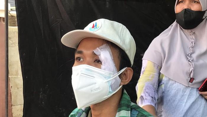 Ridwan, pesepeda yang ditabrak mobil rescue Dinsos Takalar.