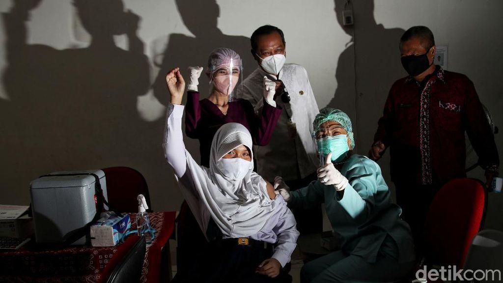 Potret Vaksinasi COVID-19 untuk Anak Berkebutuhan Khusus di Jakarta