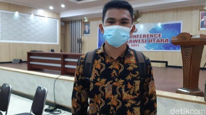 Rafael Malalangi yang namanya sempat hilang dari daftar casis Bintara Polri akhirnya dinyatakan lulus (dok Polda Sulut)