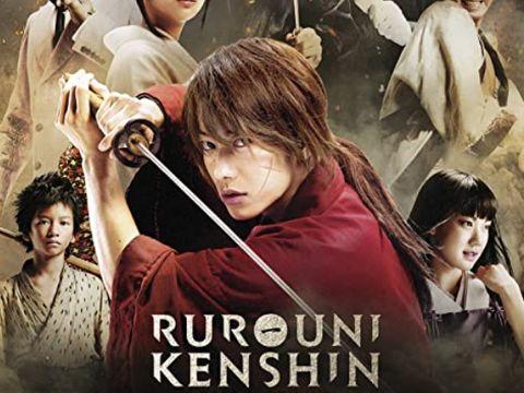 Poster film seri Rurouni Kenshin yang menceritakan tentang samurai Kenshin Himura.