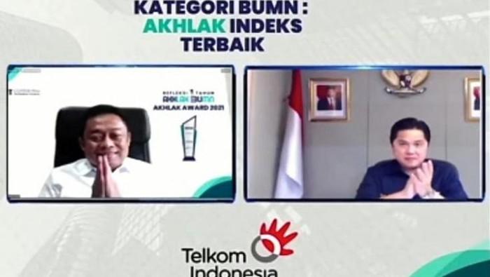 Telkom berhasil meraih gelar Juara Umum sebagai Peraih Akhlak Index Terbaik dalam ajang perdana AKHLAK Award 2021 yang diselenggarakan Kementerian BUMN bekerja sama dengan ACT Consulting Internasional.