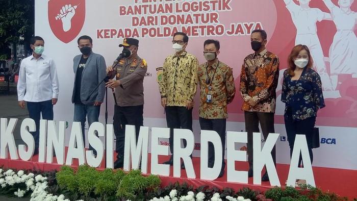 Vaksinasi Merdeka, Polda Metro Targetkan 3 Juta Warga Jakarta DIvaksin Sebelum 17 Agustus 2021 (Yogi/detikcom)