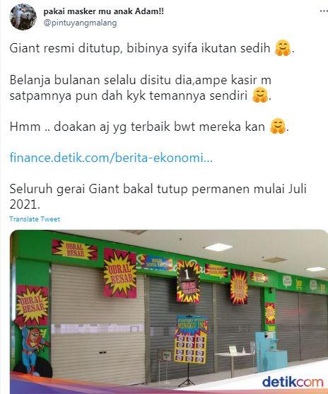 Giant tutup permanen, ini kenangan para pelanggan