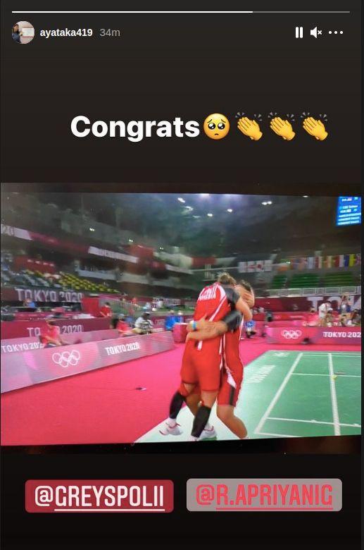 Greysia Polii/Apriyani Rahayu ke final Olimpiade Tokyo 2020.
