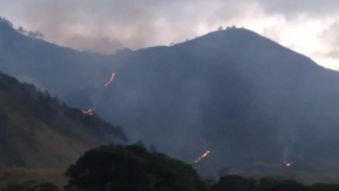 Kebakaran lahan bukit di dekat Danau Toba (dok. BPBD Dairi)