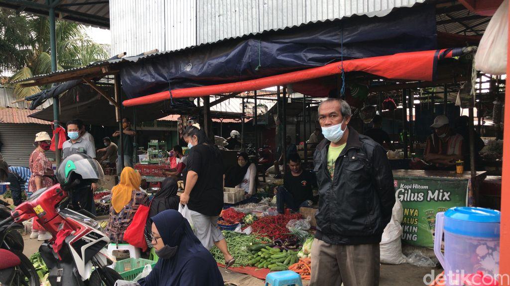 Lokbin Pasar Kramat Jati, 31 Juli 2021, pagi. (Nur Aziza/detikcom)