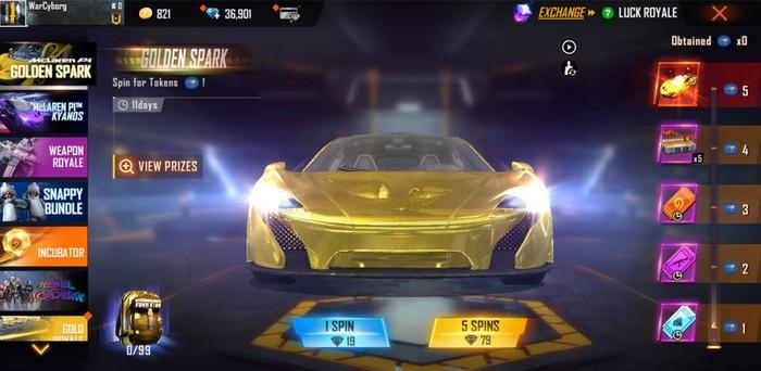 Miliki Sports Car McLaren P1 - Gold Spark Kolaborasi Free Fire x McLaren