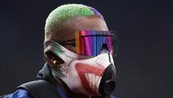 Raven Saunders, atlet tolak peluru asal AS yang berlaga di Olimpiade Tokyo 2020 sukses mengintimidasi lawan dengan masker yang dikenakannya.