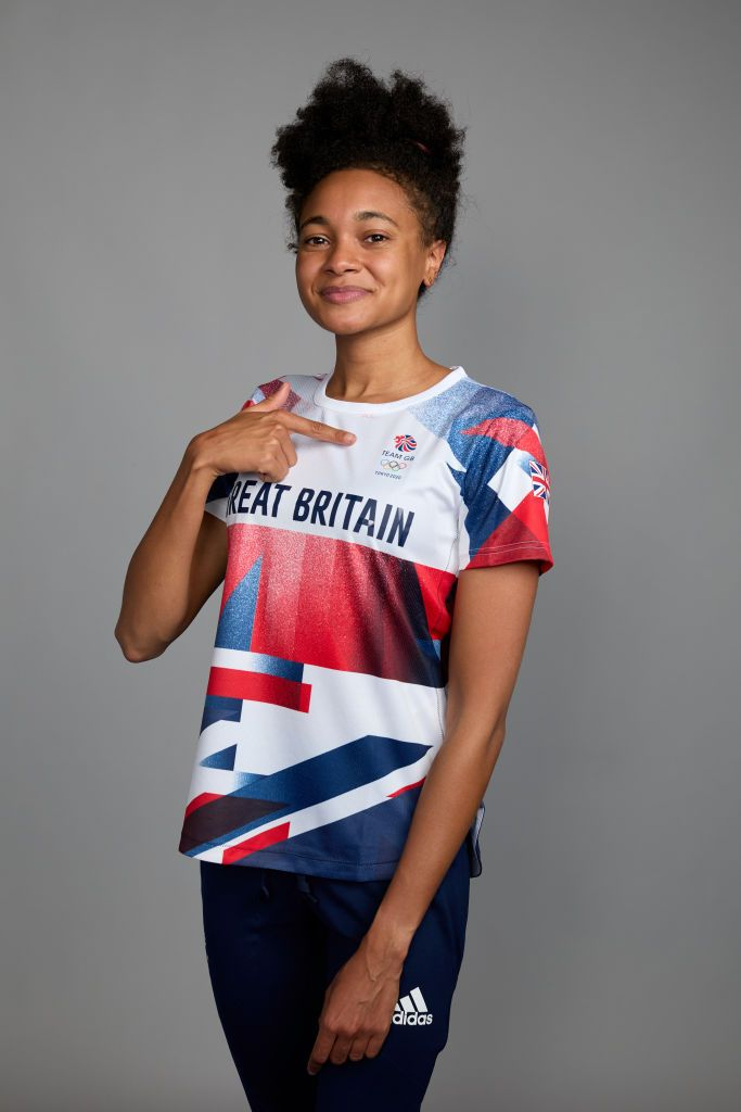 BIRMINGHAM, ENGLAND - JUNE 29: A portrait of Alice Dearing, a member of the Great Britain Olympic Swimming team, during the Tokyo 2020 Team GB Kitting Out at NEC Arena on June 29, 2021 in Birmingham, England. (Photo by Karl Bridgeman/Getty Images for British Olympic Association)