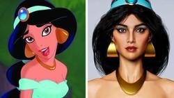 Seniman Bkin Karakter Kartun Disney Bak Manusia Sungguhan
