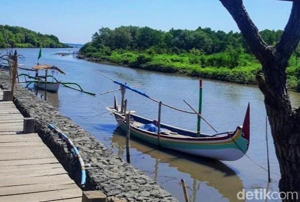 Untuk masuk kawasan tersebut juga bisa menggunakan perahu milik warga setempat. Perahu kayu ini memang banyak di tepian sungai yang letaknya tak jauh dari kawasan hutan mangrove itu.