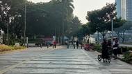 PPKM Level 4, Jalan Sudirman Sepi Pesepeda-Warga Pagi Ini