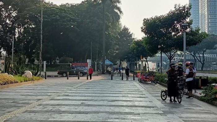 Kondisi Jalan Jenderal Sudirman pagi ini