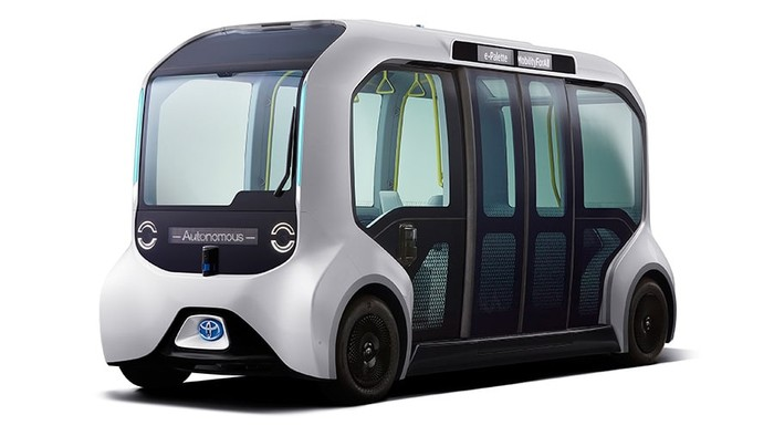 Mobil otonom Toyota e-Pallet