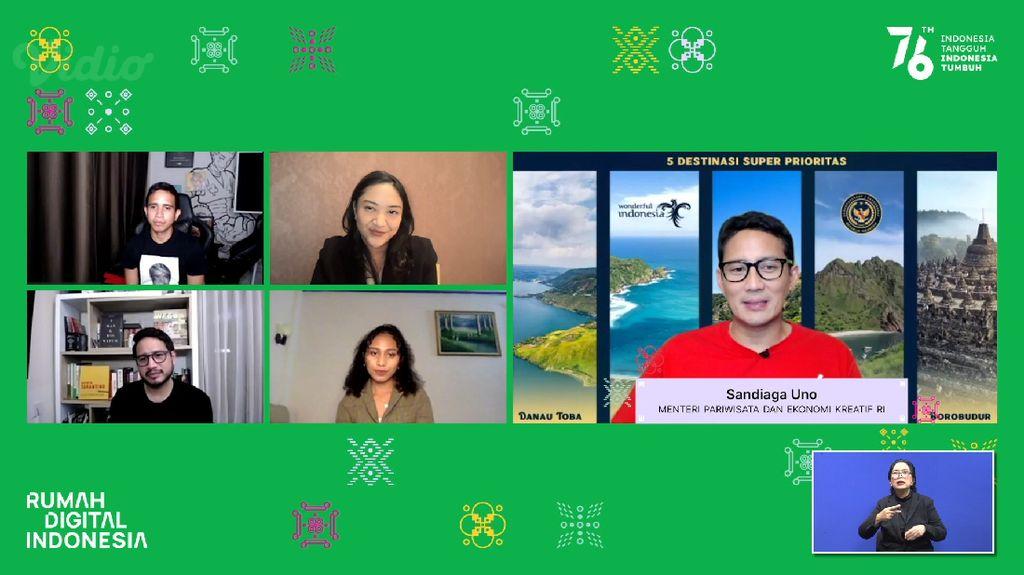 Sandiaga: Rumah Digital Indonesia Jadi Etalase Promosi Wisata RI